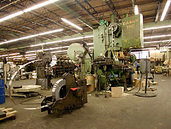 150 Ton press makes parachute hardware